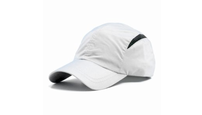 White Hat with black lines